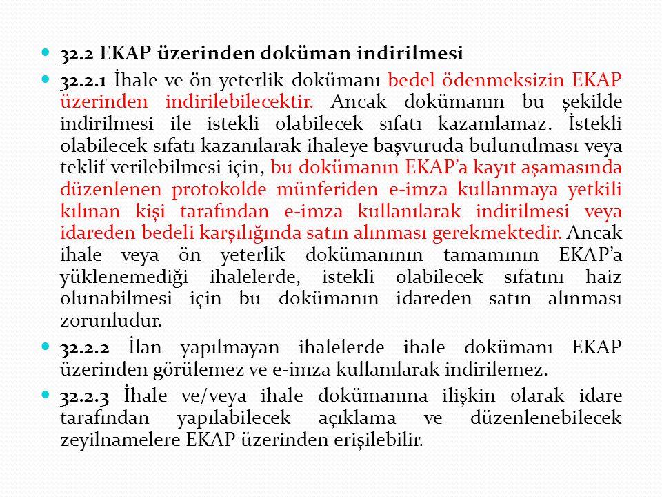 32.2 EKAP üzerinden doküman indirilmesi