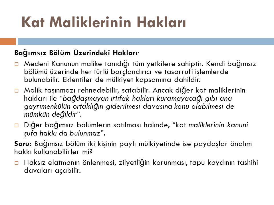 Kat Maliklerinin Hakları