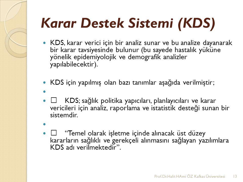 Karar Destek Sistemi (KDS)