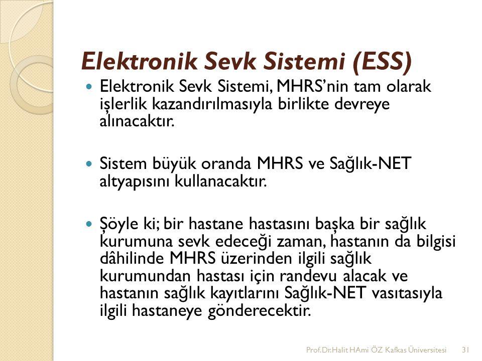 Elektronik Sevk Sistemi (ESS)