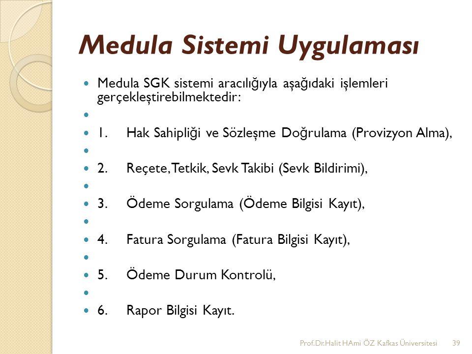 Medula Sistemi Uygulaması