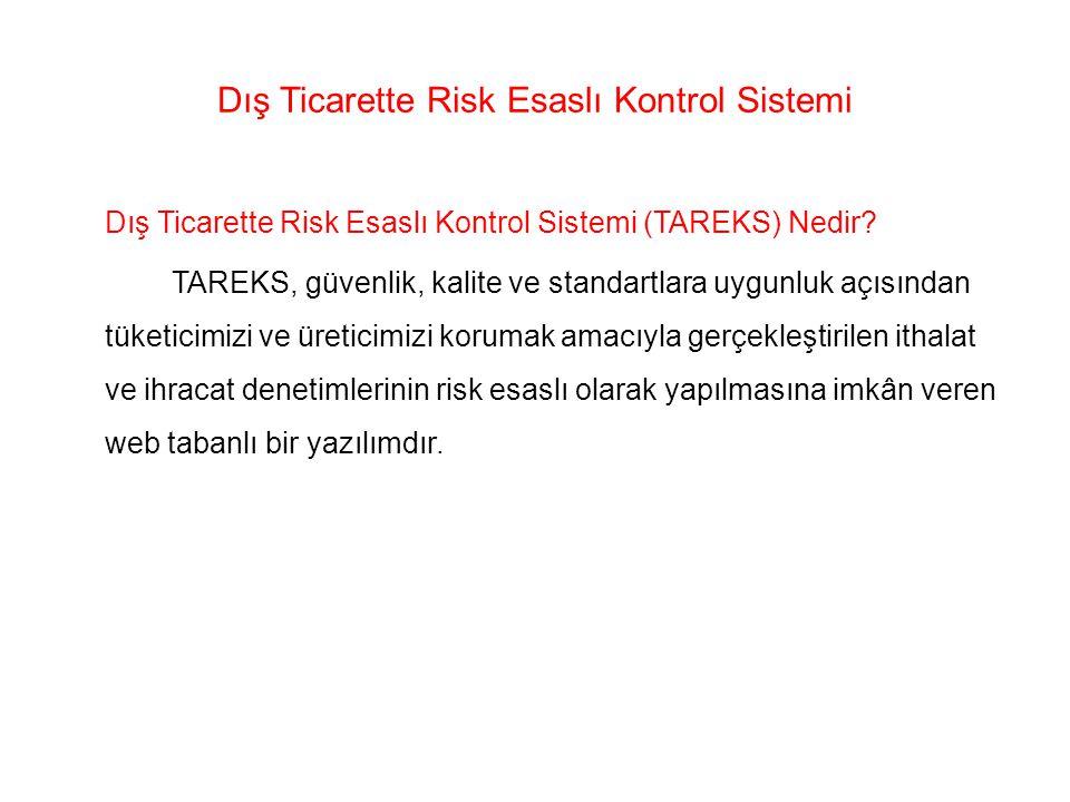 Dış Ticarette Risk Esaslı Kontrol Sistemi