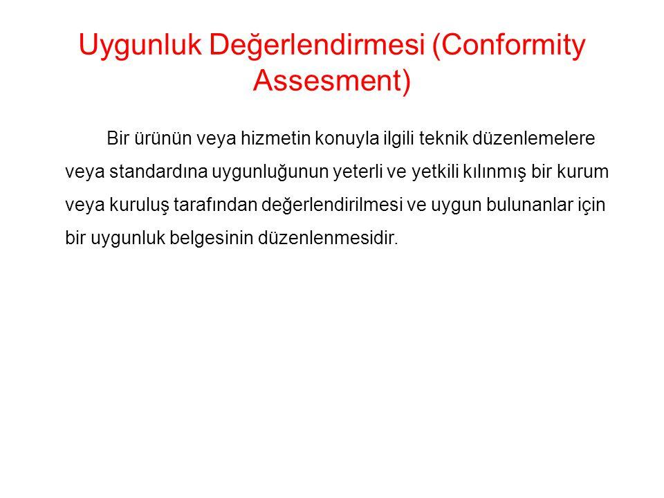Uygunluk Değerlendirmesi (Conformity Assesment)