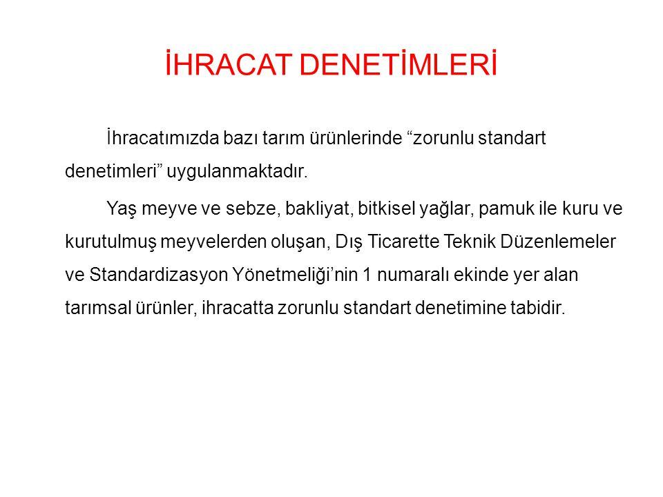 İHRACAT DENETİMLERİ
