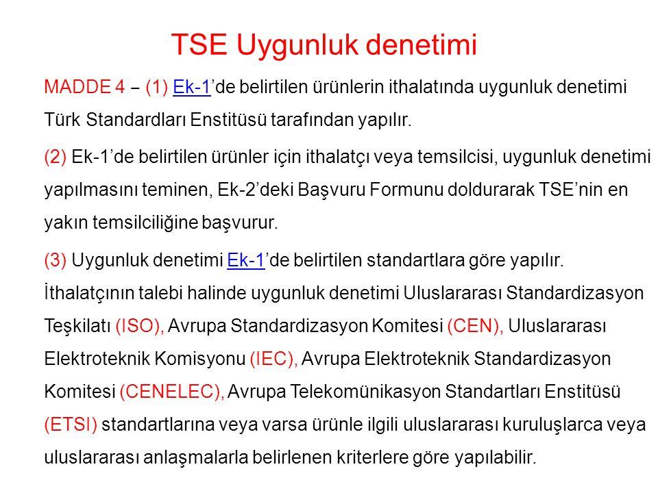 TSE Uygunluk denetimi