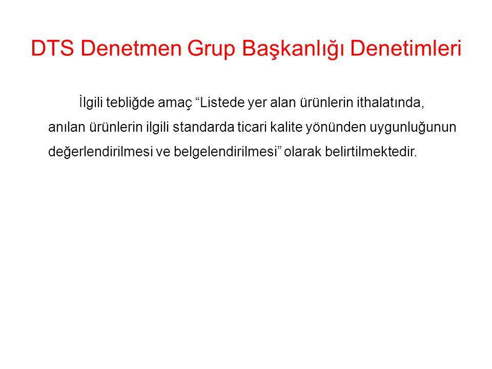 DTS Denetmen Grup Başkanlığı Denetimleri