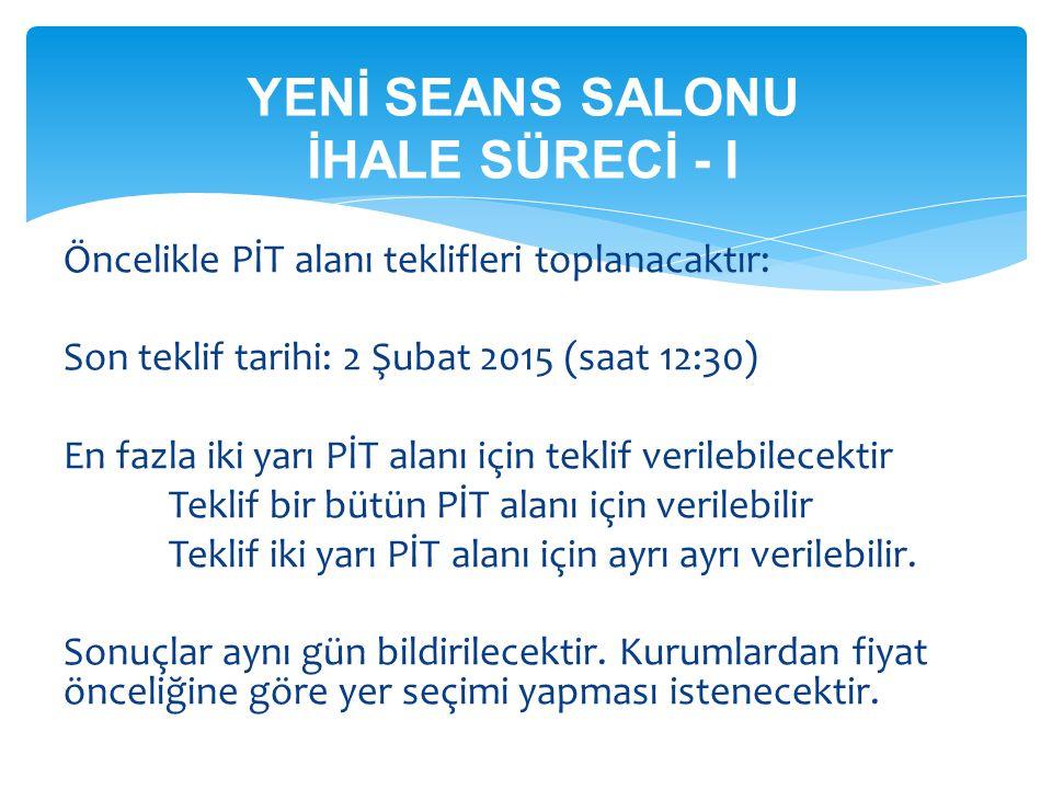 YENİ SEANS SALONU İHALE SÜRECİ - I
