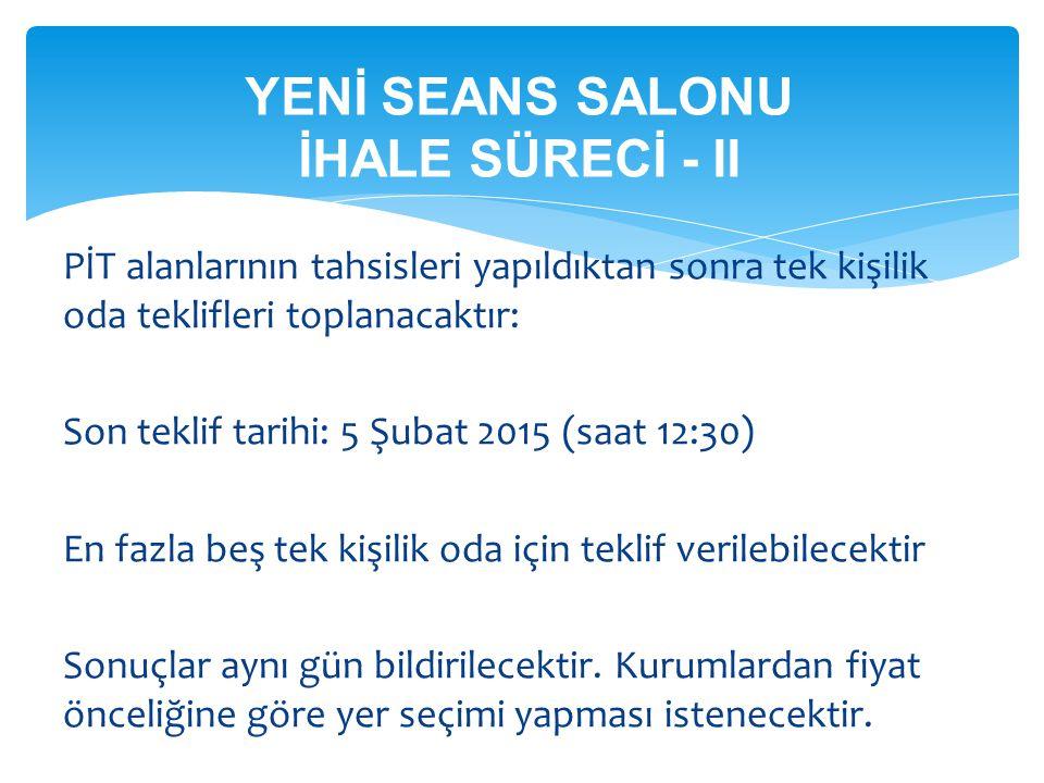 YENİ SEANS SALONU İHALE SÜRECİ - II