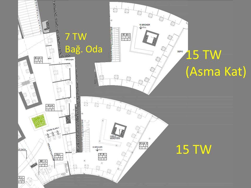 7 TW Bağ. Oda 15 TW (Asma Kat) 15 TW
