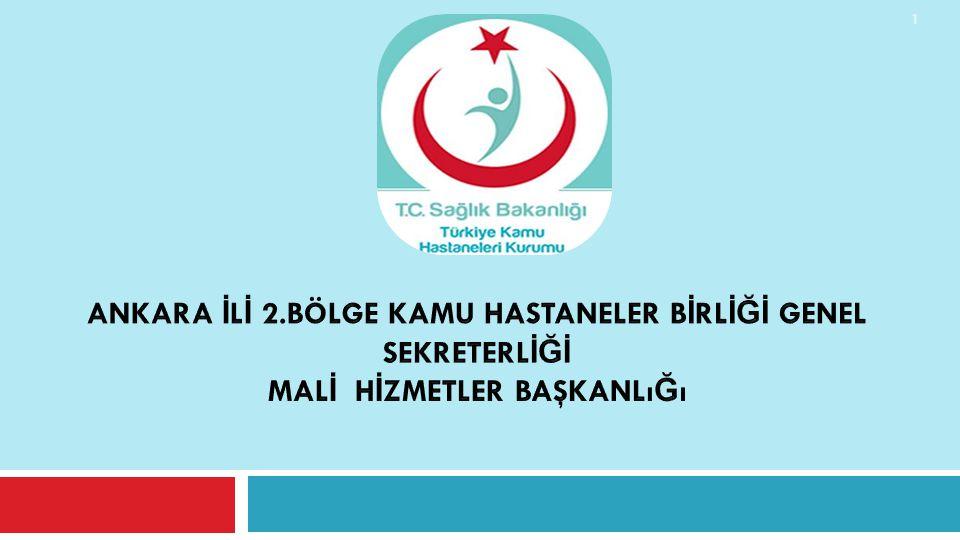 Ankara İLİ 2.Bölge Kamu Hastaneler BİRLİĞİ Genel SekreterlİĞİ Malİ Hİzmetler Başkanlığı
