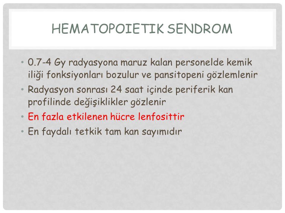 HEMATOPOİETİK SENDROM