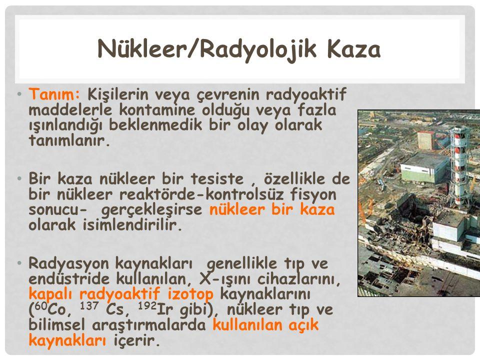 Nükleer/Radyolojik Kaza