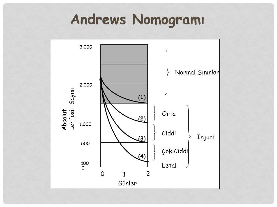 Andrews Nomogramı Normal Sınırlar Absolut Lenfosit Sayısı Orta Ciddi