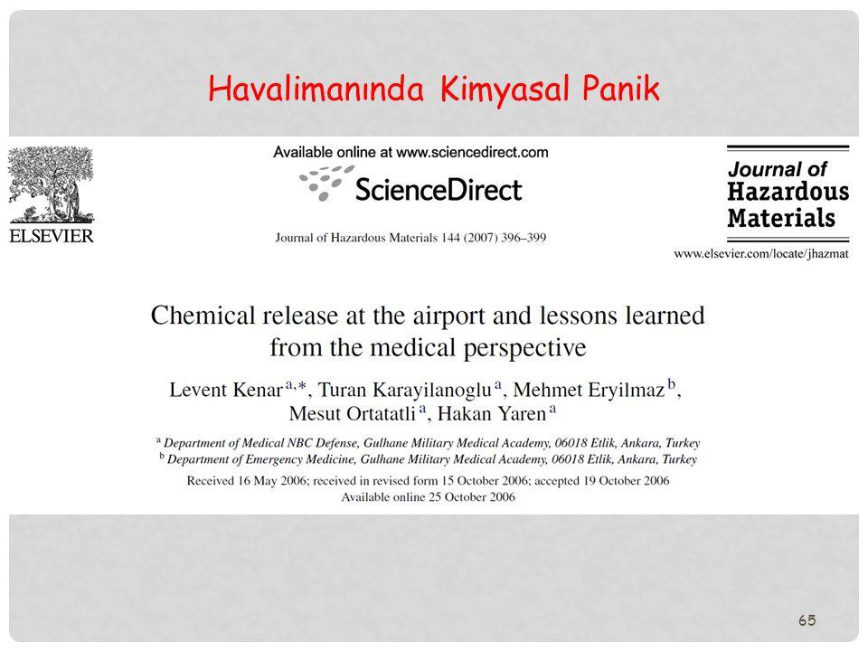 Havalimanında Kimyasal Panik