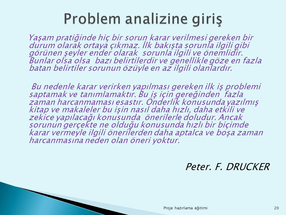 Problem analizine giriş
