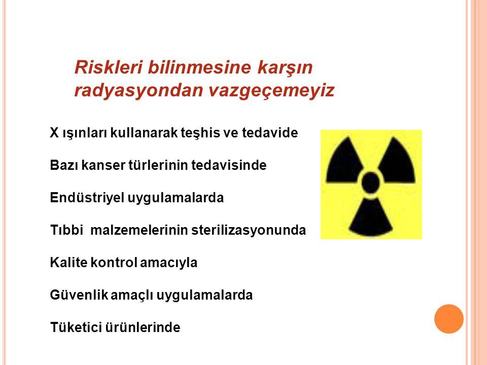 Riskleri bilinmesine karşın radyasyondan vazgeçemeyiz