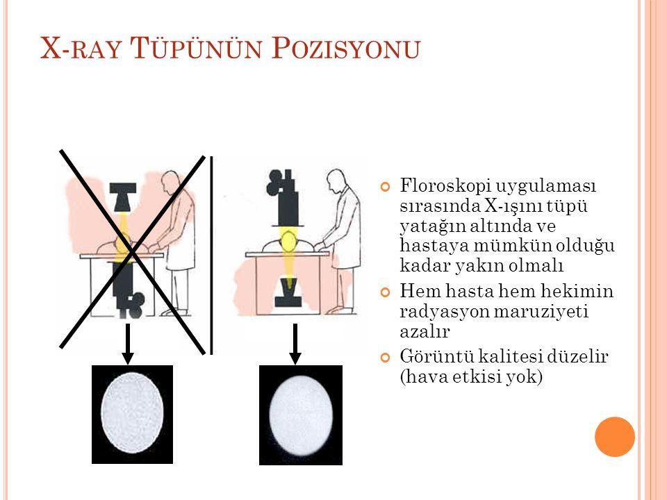 X-ray Tüpünün Pozisyonu