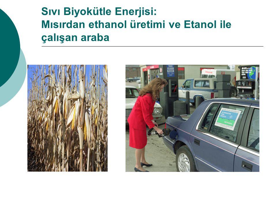 Sıvı Biyokütle Enerjisi: Mısırdan ethanol üretimi ve Etanol ile çalışan araba