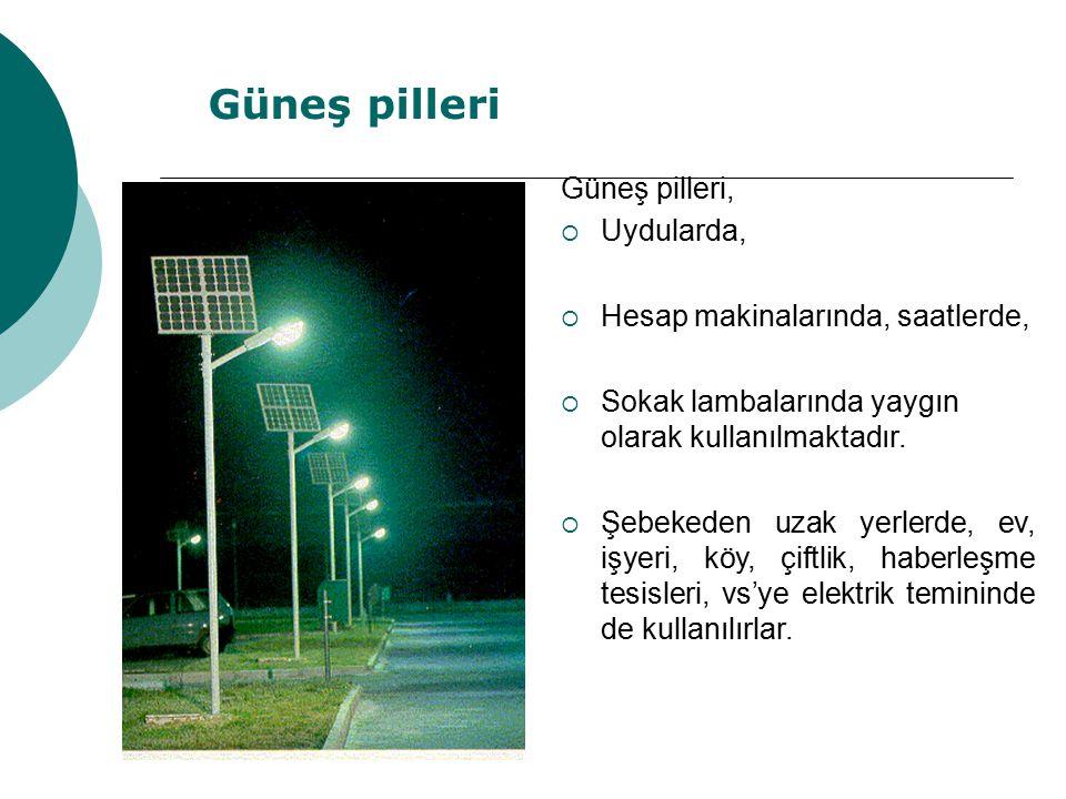 Güneş pilleri Güneş pilleri, Uydularda,