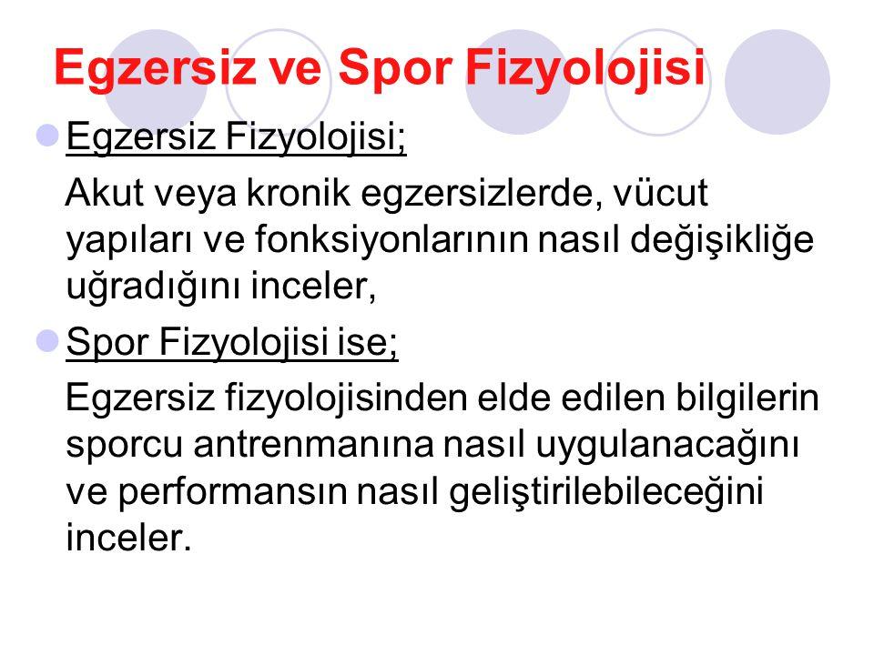 Egzersiz ve Spor Fizyolojisi