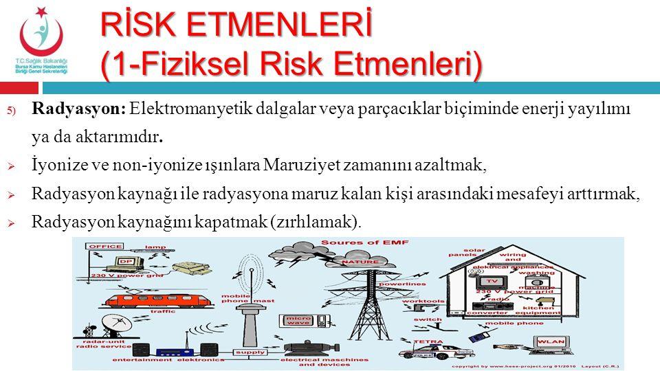 RİSK ETMENLERİ (1-Fiziksel Risk Etmenleri)