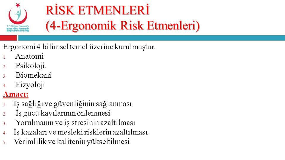 RİSK ETMENLERİ (4-Ergonomik Risk Etmenleri)