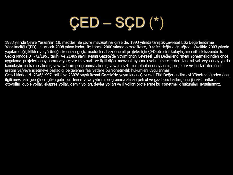 ÇED – SÇD (*)