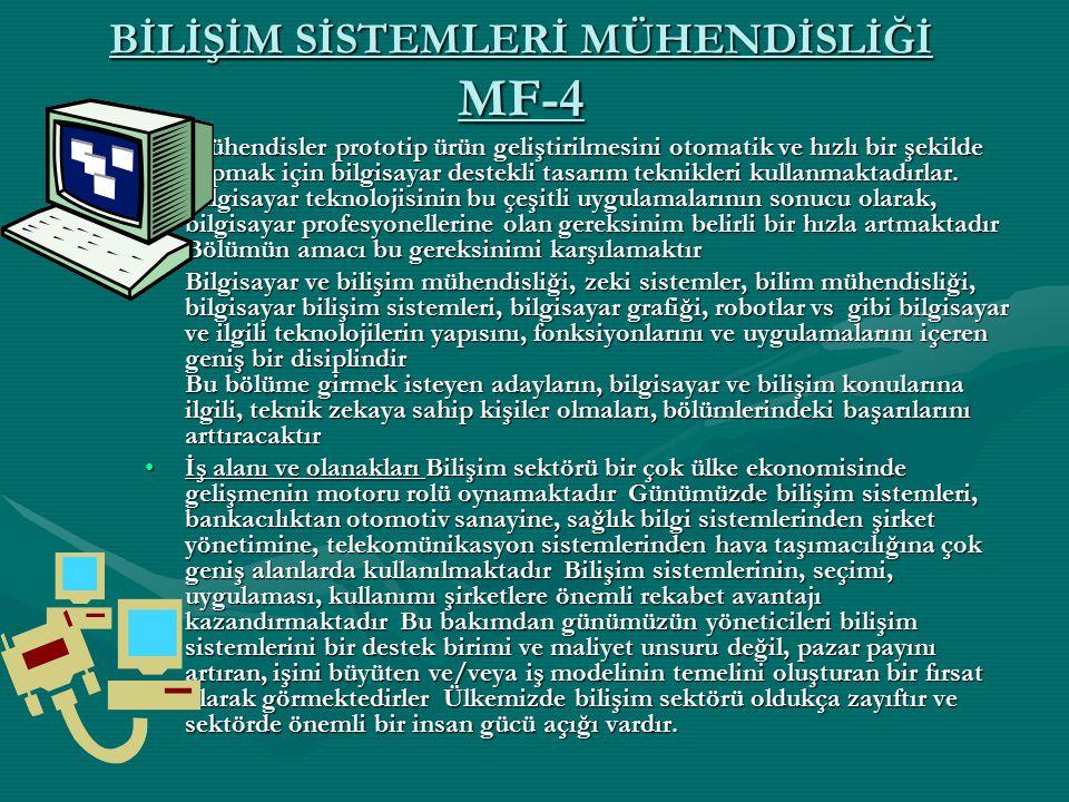 BİLİŞİM SİSTEMLERİ MÜHENDİSLİĞİ MF-4
