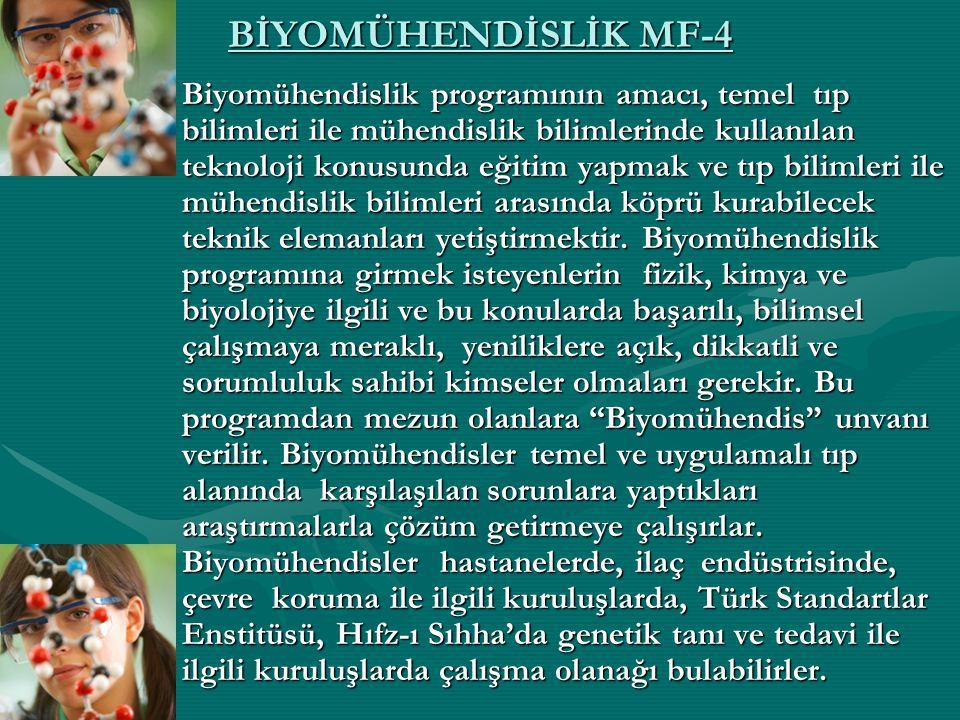 BİYOMÜHENDİSLİK MF-4