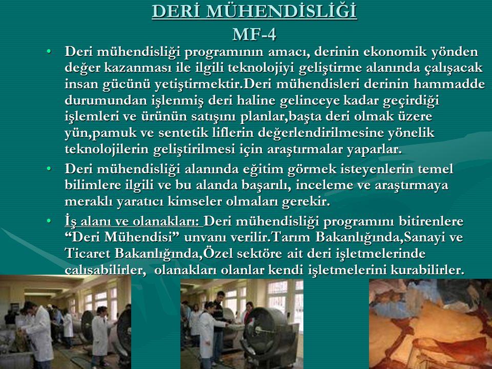 DERİ MÜHENDİSLİĞİ MF-4