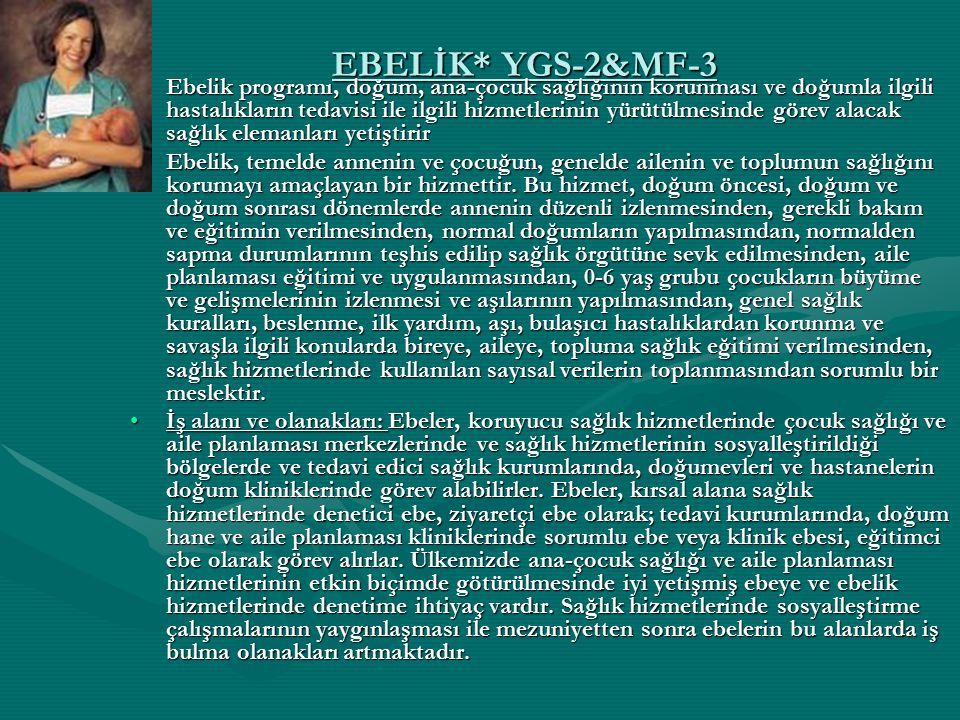 EBELİK* YGS-2&MF-3