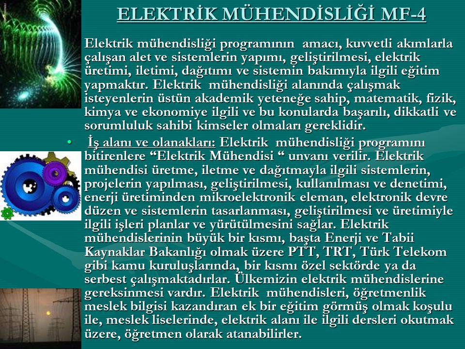 ELEKTRİK MÜHENDİSLİĞİ MF-4