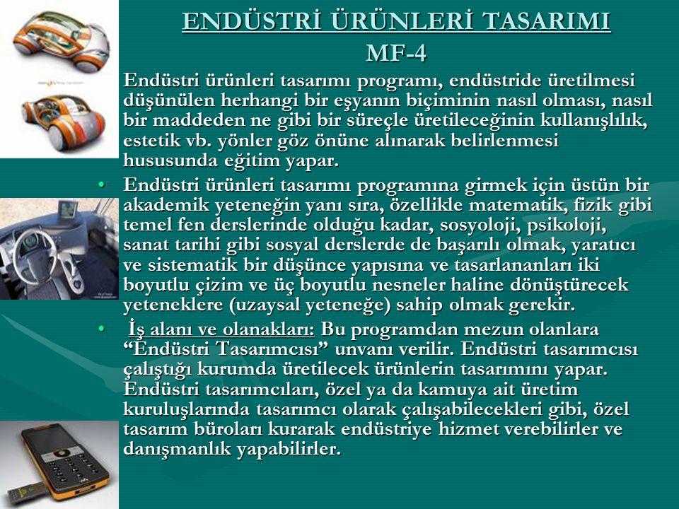 ENDÜSTRİ ÜRÜNLERİ TASARIMI MF-4