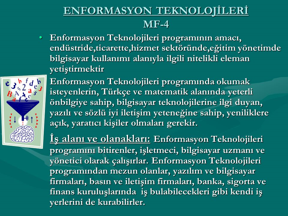 ENFORMASYON TEKNOLOJİLERİ MF-4