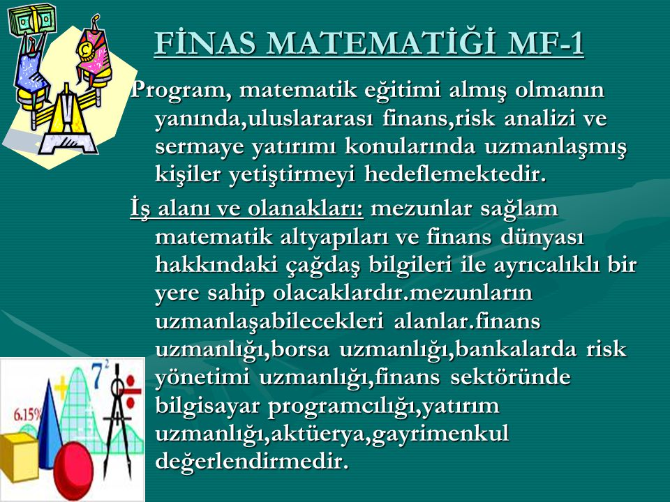 FİNAS MATEMATİĞİ MF-1