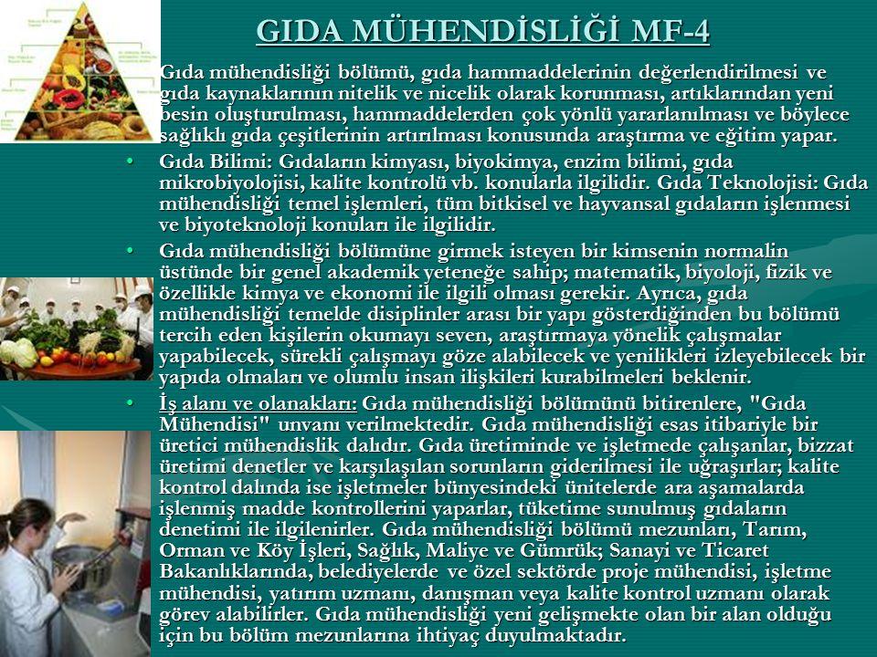 GIDA MÜHENDİSLİĞİ MF-4