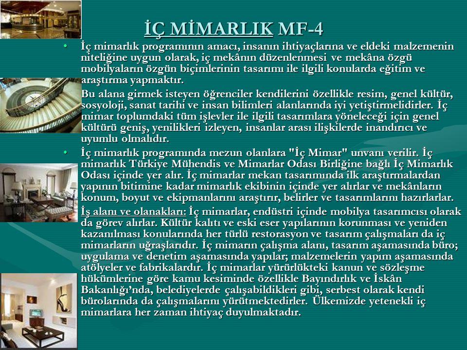 İÇ MİMARLIK MF-4