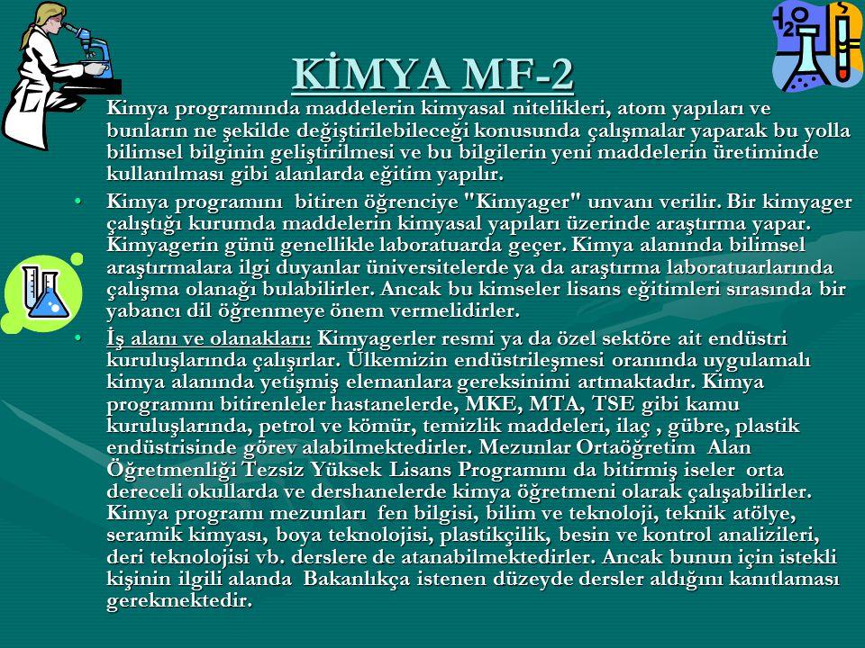 KİMYA MF-2