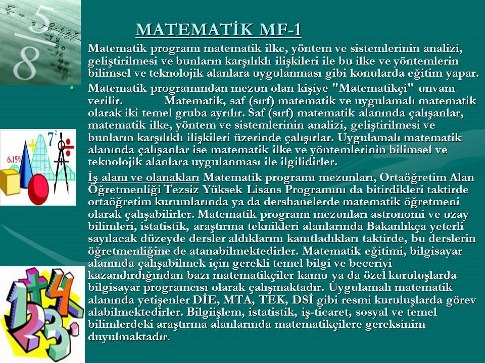 MATEMATİK MF-1