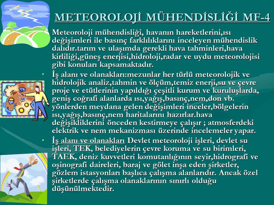 METEOROLOJİ MÜHENDİSLİĞİ MF-4