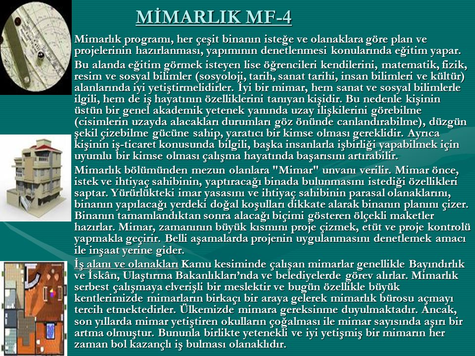 MİMARLIK MF-4
