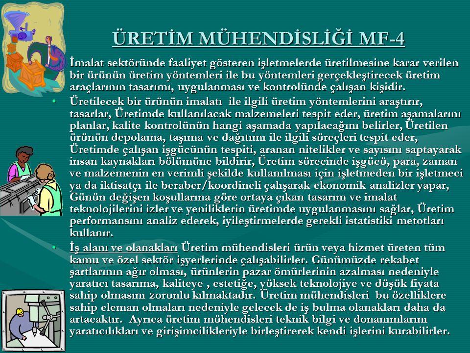 ÜRETİM MÜHENDİSLİĞİ MF-4