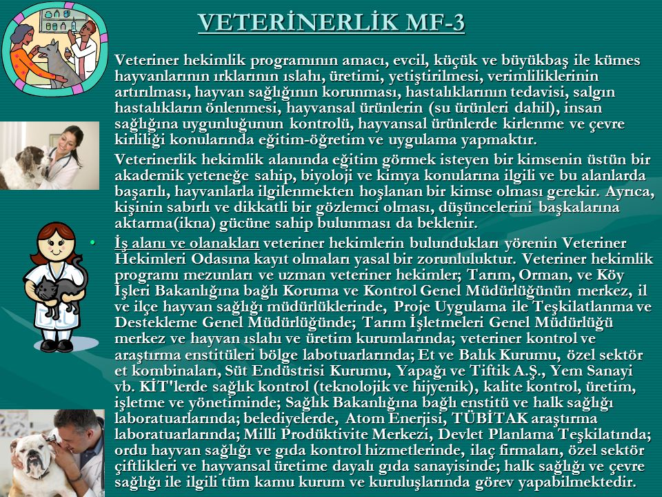 VETERİNERLİK MF-3