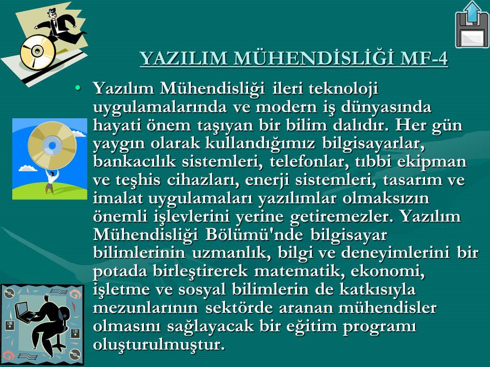 YAZILIM MÜHENDİSLİĞİ MF-4