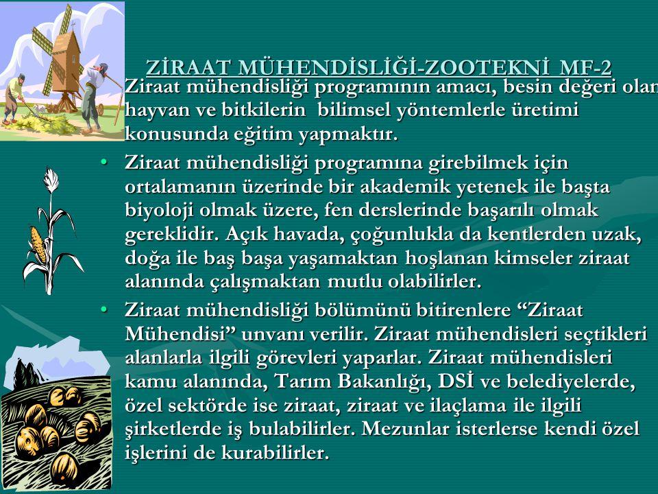 ZİRAAT MÜHENDİSLİĞİ-ZOOTEKNİ MF-2