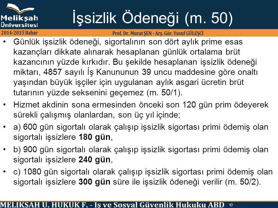 İşsizlik Ödeneği (m. 50)