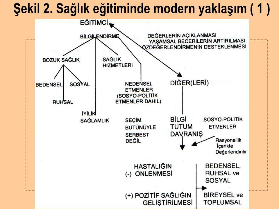 Şekil 2. Sağlık eğitiminde modern yaklaşım ( 1 )