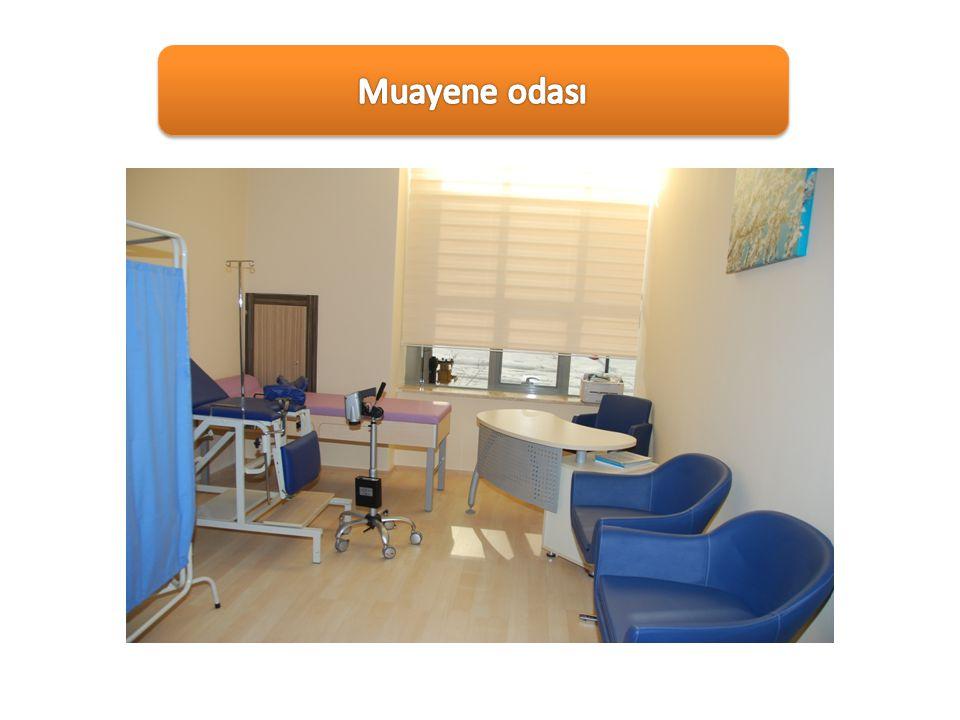 Muayene odası Fizik muayenenin ve adli muayenenin yapıldığı oda.