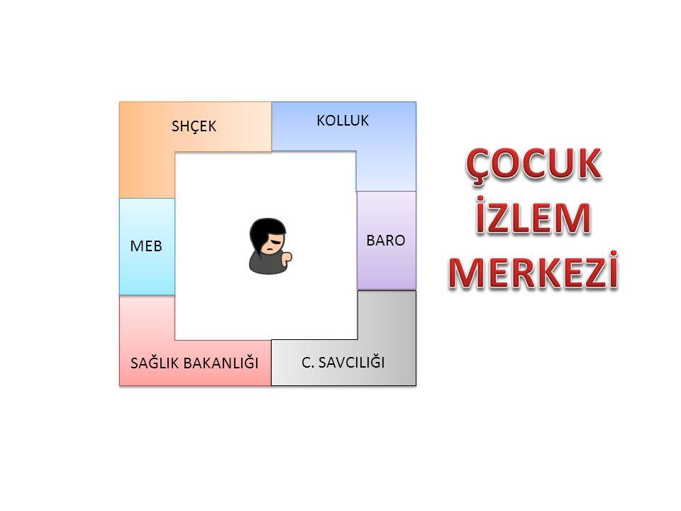ÇOCUK İZLEM MERKEZİ SHÇEK KOLLUK BARO MEB C. SAVCILIĞI