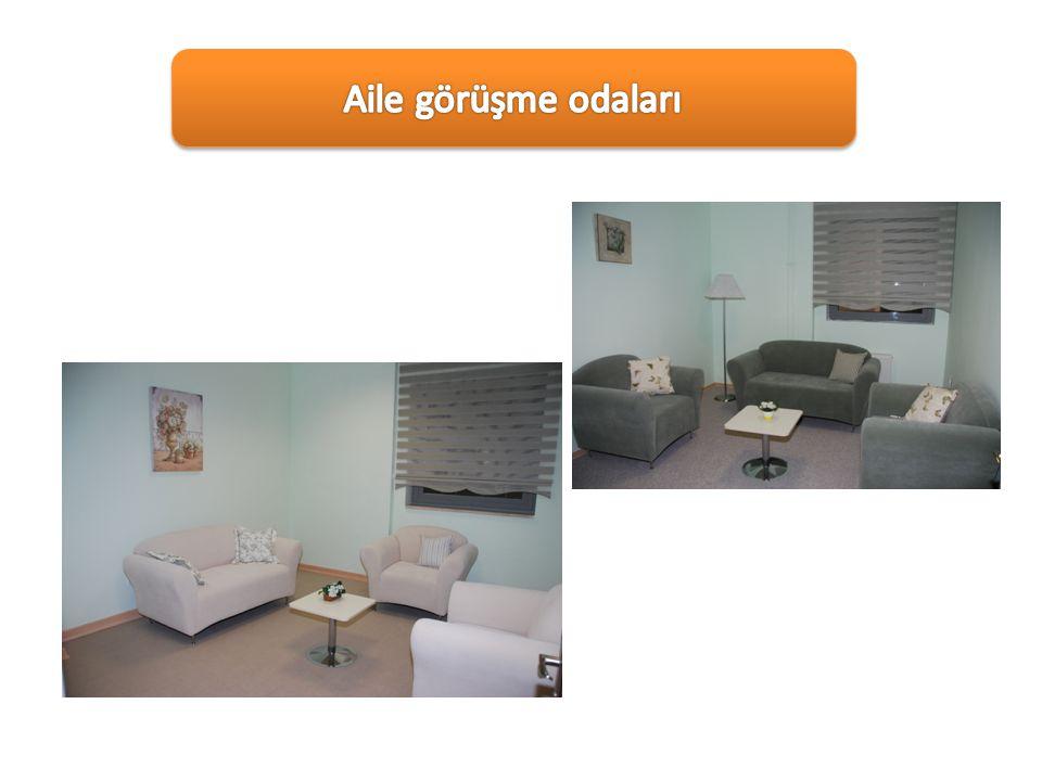 Aile görüşme odaları Ailelerle görüşmenin yapıldığı 2 farklı oda bulunmaktadır.